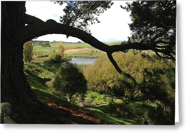 Landscape With Water Greeting Card by Ron Torborg