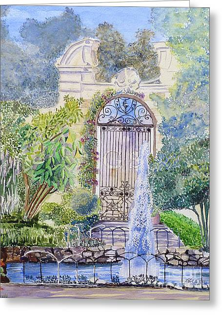 Landscaped Gardens Greeting Card