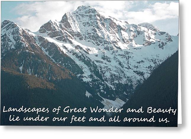 Landscapes Of Great Wonder  Greeting Card