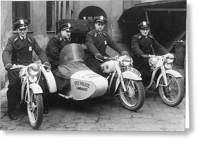Landshut City Police Greeting Card by Underwood Archives