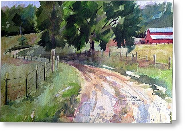 Lane To Fester Farms Greeting Card