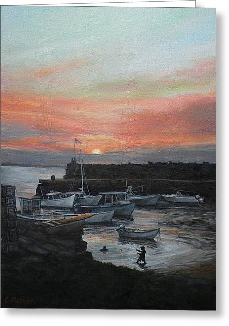 Lanes Cove Sunset Greeting Card