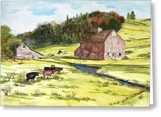 Lanesboro Barn Greeting Card by Susan Crossman Buscho