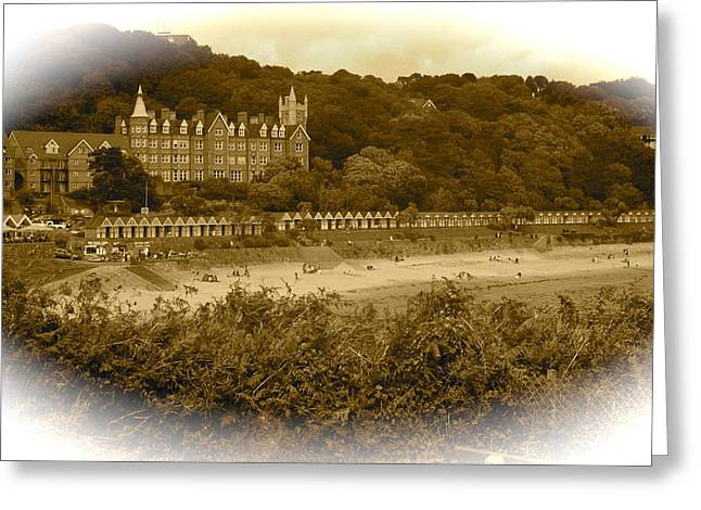 Langland Bay Gower Wales Greeting Card by John Colley