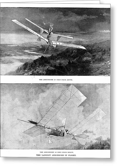 Langley's Steam-powered Model Plane Greeting Card