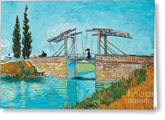 Langlois Bridge At Arles Greeting Card by Vincent van Gogh