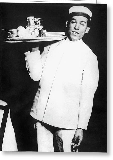 Langston Hughes As Busboy Greeting Card by Underwood Archives