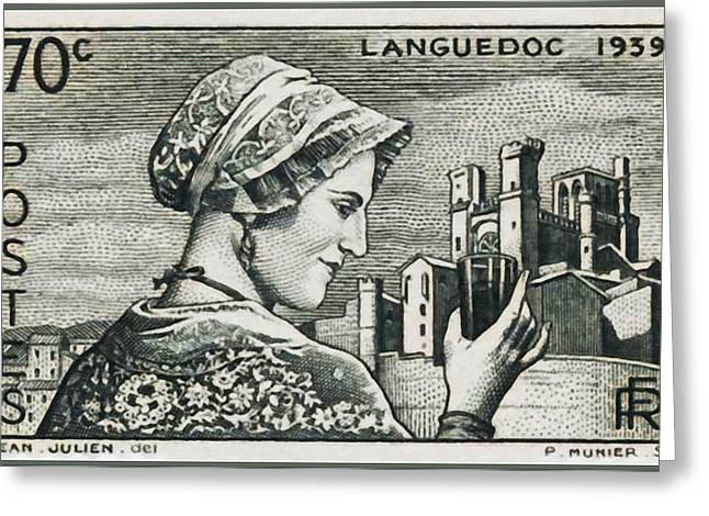 Languedoc 1939 Stamp Greeting Card