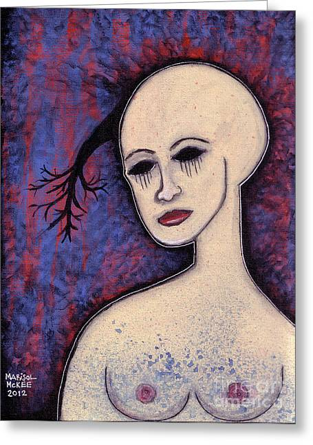 Languid Greeting Card by Marisol McKee