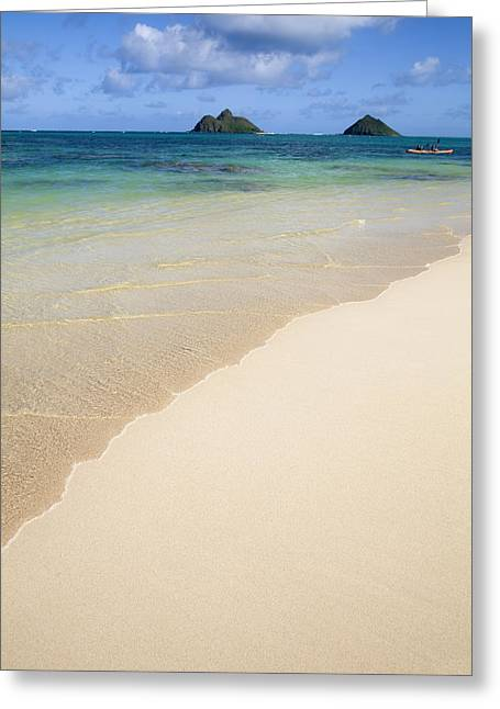 Lanikai And Mokulua Islands Greeting Card by Brandon Tabiolo