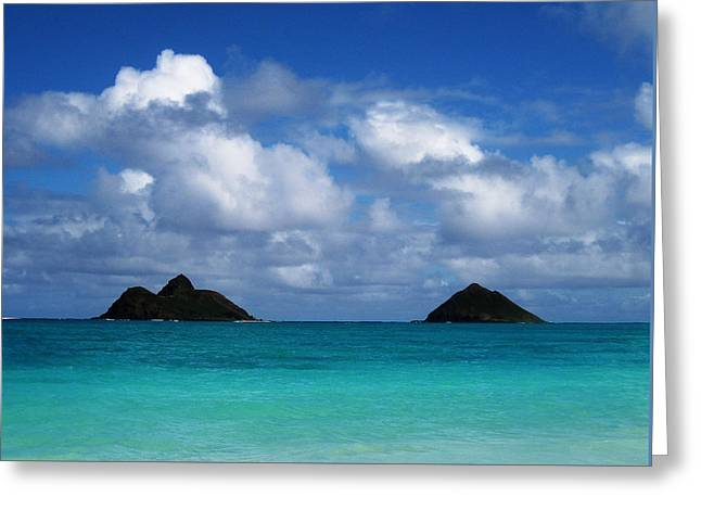 Greeting Card featuring the photograph Lanikai by Art Shimamura