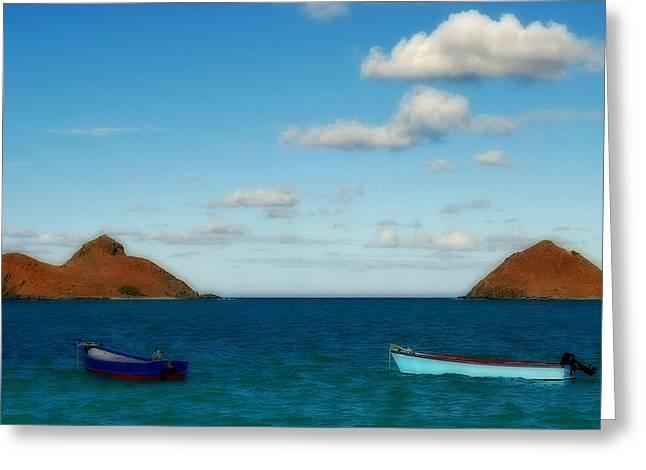 Greeting Card featuring the photograph Lanikai Beach by Caroline Stella