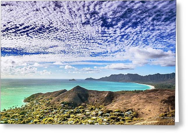 Lanikai Beach Cirrocumulus Clouds Greeting Card