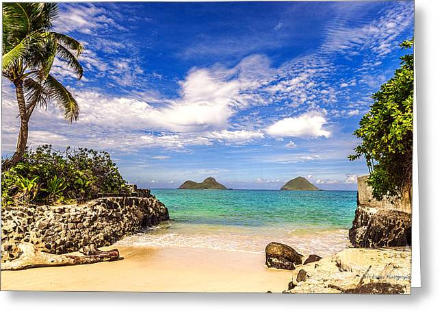 Lanikai Beach Cove Greeting Card
