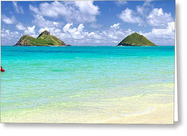 Lanikai Beach Paradise 3 To 1 Aspect Ratio Greeting Card