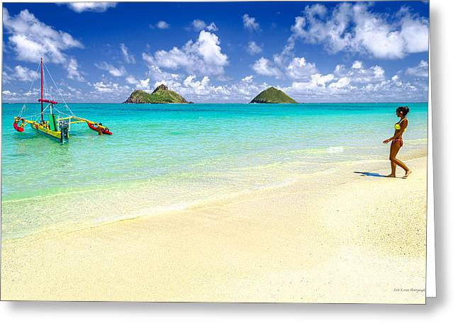 Lanikai Beach Paradise Greeting Card