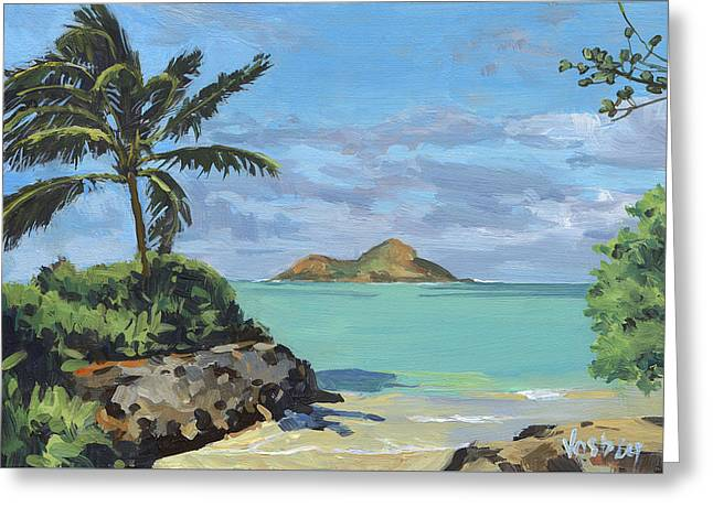 Lanikai Beach Path Greeting Card by Stacy Vosberg