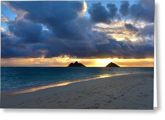 Lanikai Beach Sunrise 3 - Kailua Oahu Hawaii Greeting Card