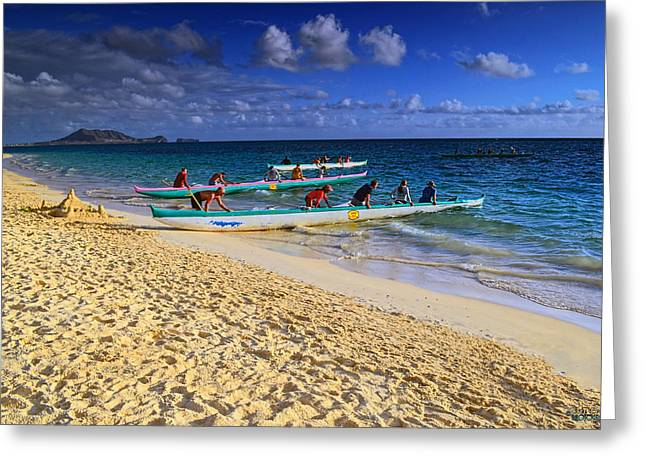 Greeting Card featuring the photograph Lanikai Catamarans In The Morning by Aloha Art