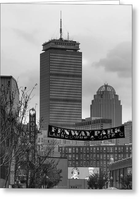 Lansdowne Street 2 - Fenway Park - Boston Greeting Card by Joann Vitali
