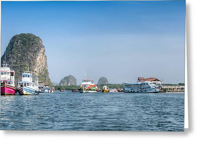 Lanta Island Dock Greeting Card by Adrian Evans