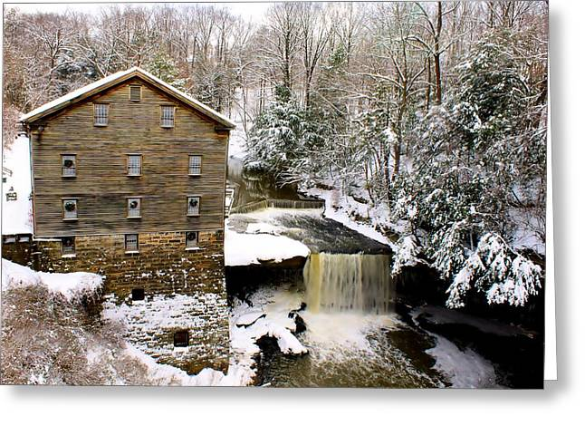 Lanterman's Mill In Winter Greeting Card