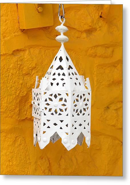 Lantern Against Ochre Greeting Card