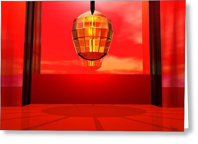 Lantern Light Greeting Card by John Pangia