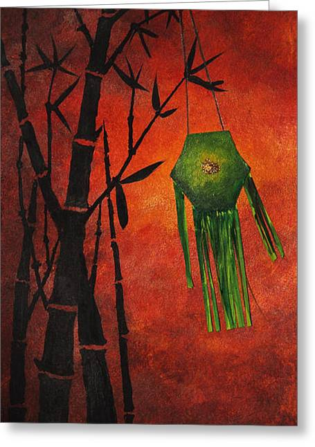 Lantern Greeting Card by Nirdesha Munasinghe