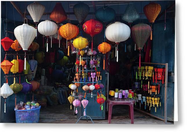 Lantern Shop In Hoi An Ancient Town Greeting Card by Keren Su