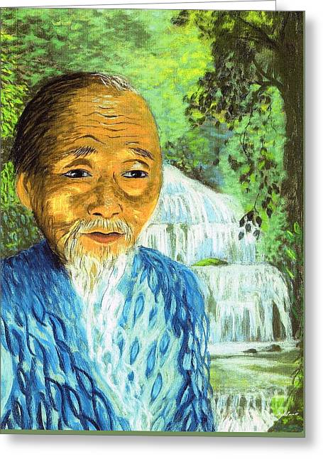 Lao Tzu Greeting Card by Jane Small
