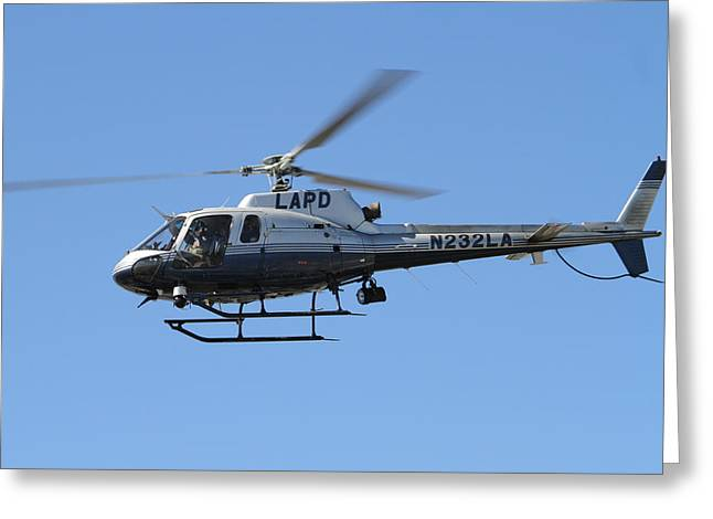 Lapd In Flight Greeting Card by Shoal Hollingsworth