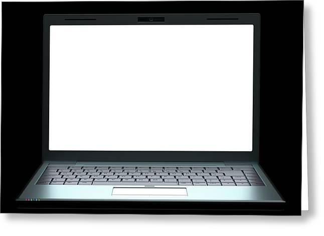 Laptop Greeting Card by Ktsdesign