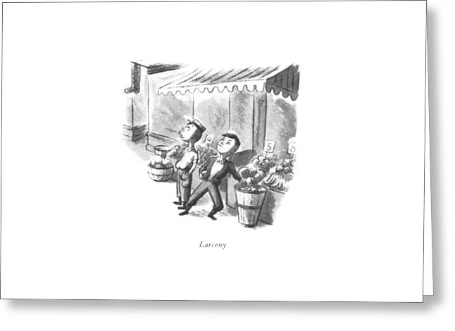 Larceny Greeting Card by William Steig