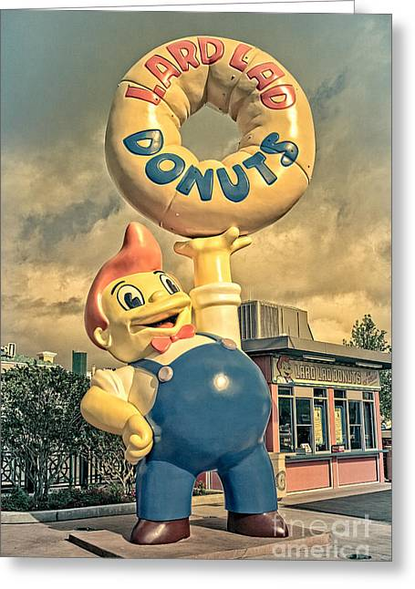 Lard Lad Donuts Greeting Card by Edward Fielding