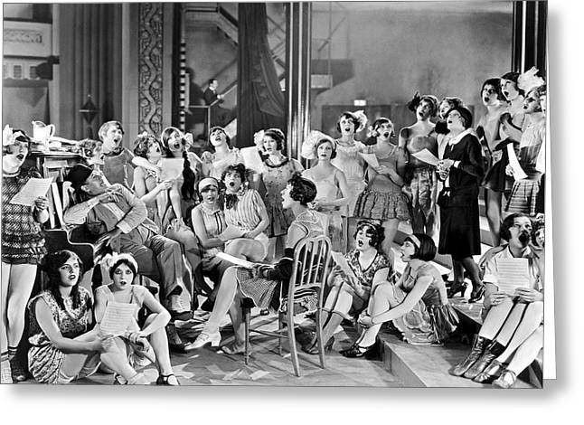 Large Group Of Women Singing Greeting Card