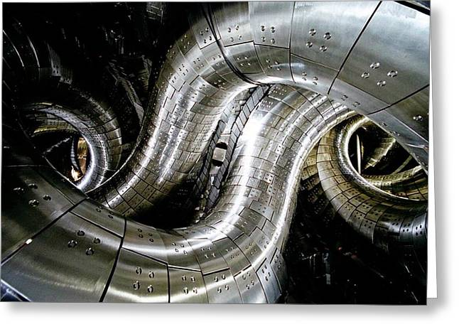 Large Helical Device Greeting Card
