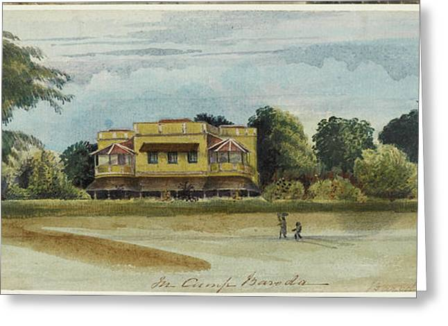 Large House And Garden. In Camp Baroda.' Greeting Card by British Library
