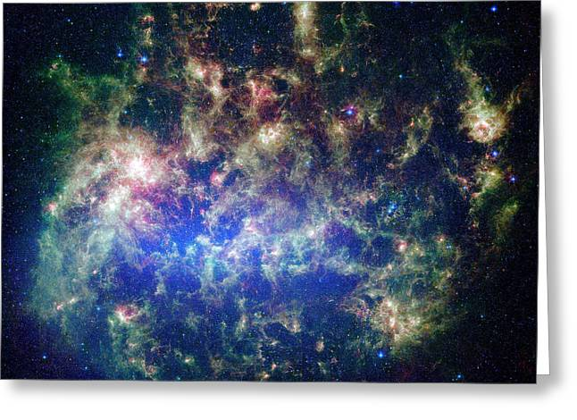 Large Magellanic Cloud Greeting Card by Nasa/jpl-caltech/stsci