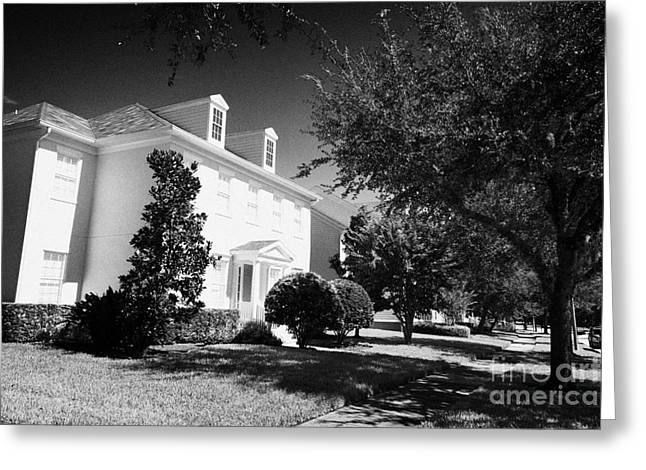 Large Residential Home Property Real Estate In Celebration Florida Usa Greeting Card by Joe Fox