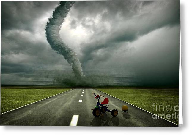 Large Tornado Greeting Card by Boon Mee