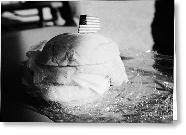 Large Turkey Salad Sandwich Wrapped In Cling Film Usa Greeting Card
