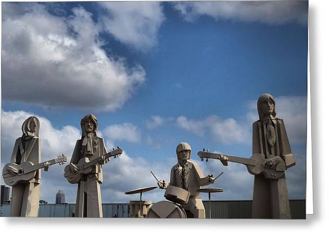 Larger Than Life Beatles Greeting Card by Dan Sproul