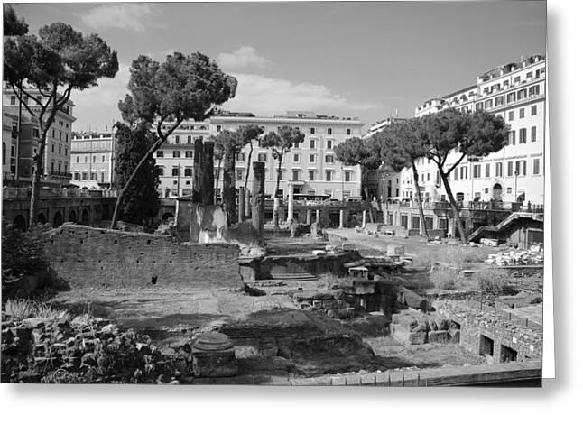 Greeting Card featuring the photograph Largo Di Torre - Roma by Dany Lison