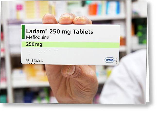 Lariam Antimalarial Pills Greeting Card