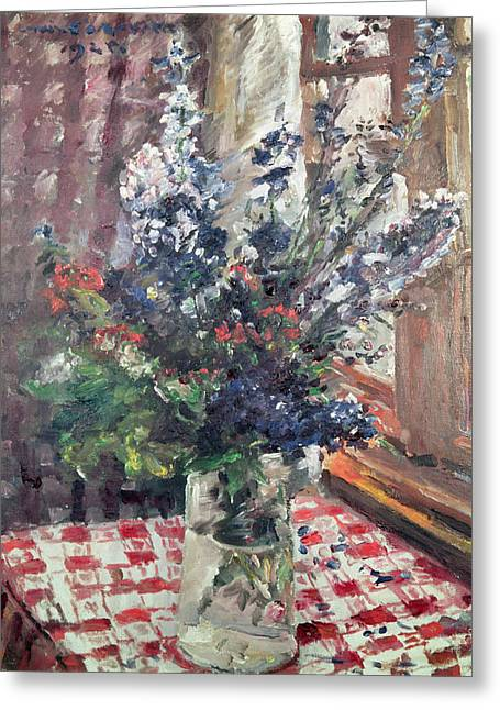 Larkspur Greeting Card by Lovis Corinth