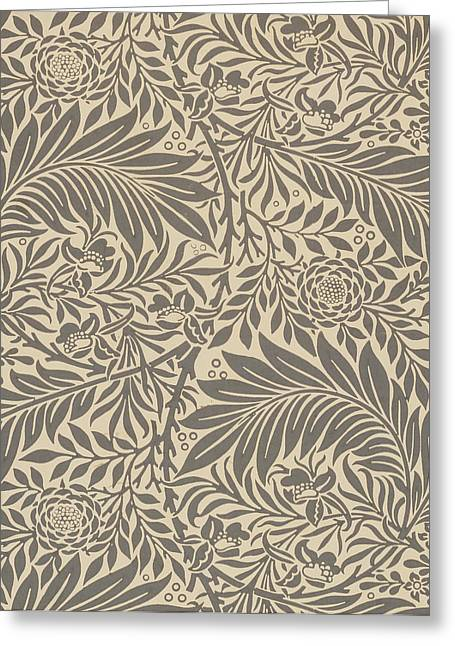 Larkspur Wallpaper Design Greeting Card by William Morris
