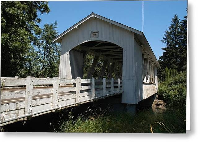 Larlwood Bridge Greeting Card by Gene McKinley