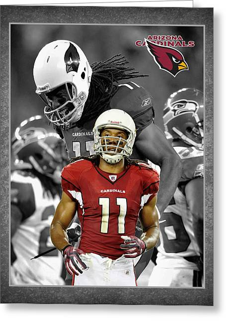 Larry Fitzgerald Cardinals Greeting Card by Joe Hamilton