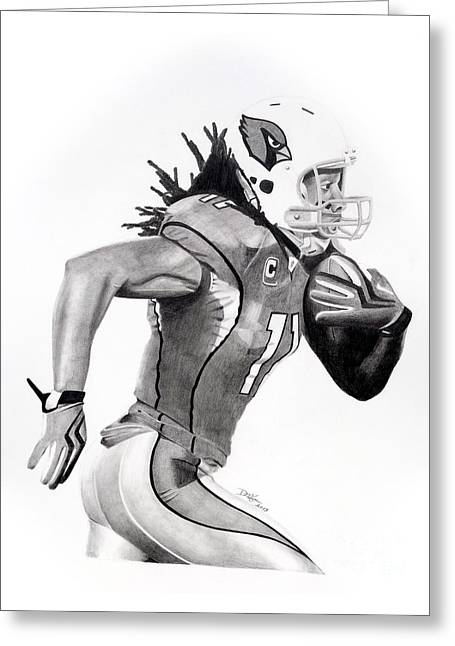 Larry Fitzgerald Fitz Greeting Card by Devin Millington